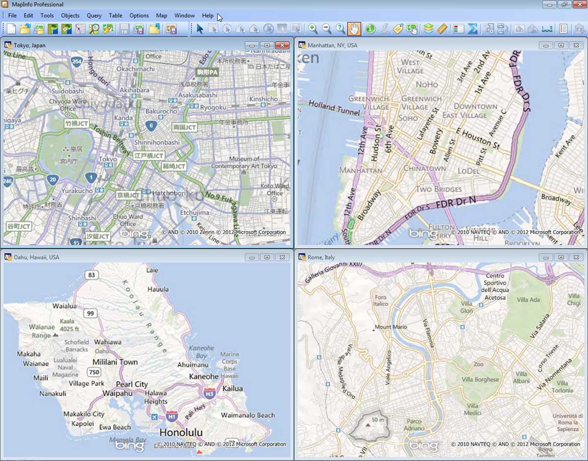 MapInfo Pro™ Premium Services