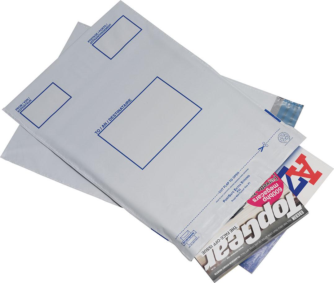 Postsafe Versantaschen aus extra starkem polythen, ohne Fenster, lichtgrau, 240x320mm, 20/VE