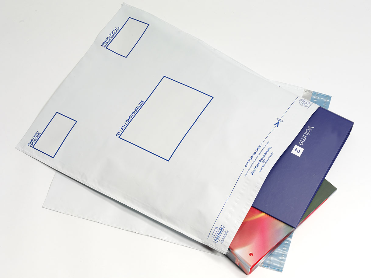 Postsafe Versantaschen aus extra starkem polythen, ohne Fenster, lichtgrau, 460x430mm, 100/VE