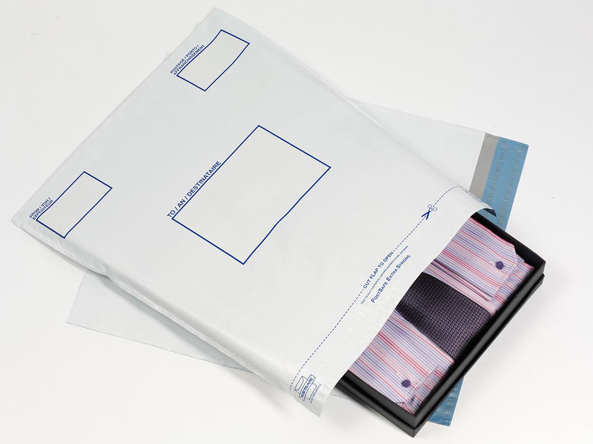 Postsafe Versantaschen aus extra starkem polythen, ohne Fenster, lichtgrau, 335x430mm, 100/VE