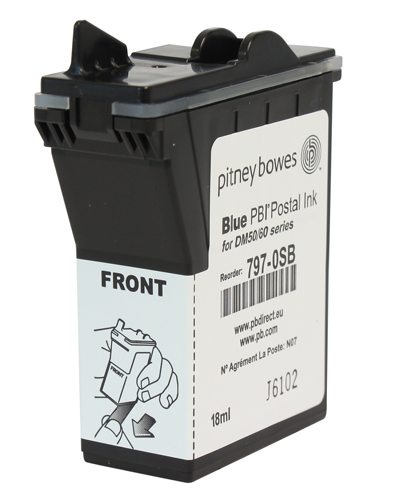 Pitney Bowes Franking Ink Cartridge - Blue - DM50 (K700) Series & DM60 Series