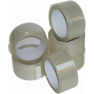 Rolls Of Clear Packing Parcel Tape 48mm x 66m - 36 Rolls