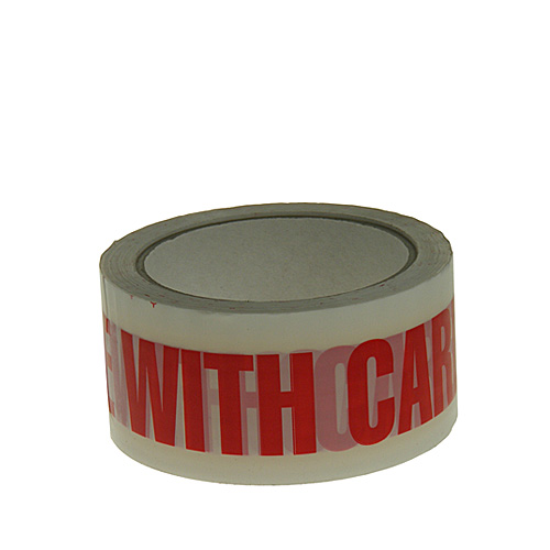 White & Red Handle With Care Packing Tape - 48mmx66m - pk36