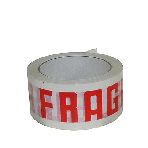 White & Red Fragile Packing Tape - 48mmx66m - pk36