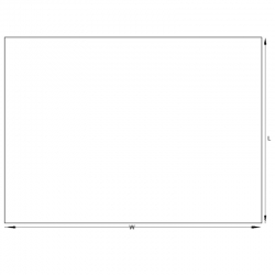 Plain A5 Plain Document Wallets - 225x165mm - pk1000