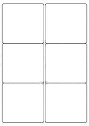Plain Plain Self Adhesive Labels (6/Sheet) - LabelSize:99x94mm - pk100