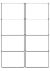 Plain Plain Self Adhesive Labels (8/Sheet) - LabelSize:99x68mm - pk100