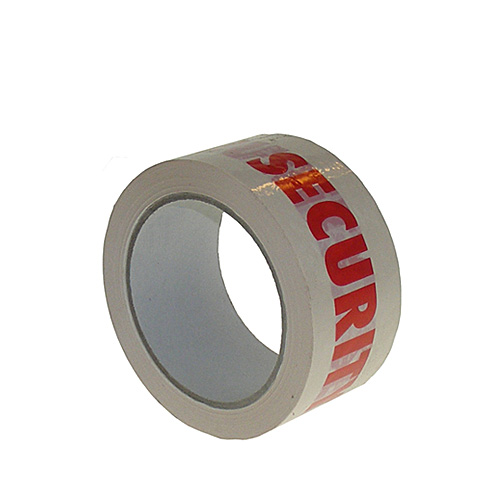 White & Red Security Packing Tape - 48mmx66m - pk36