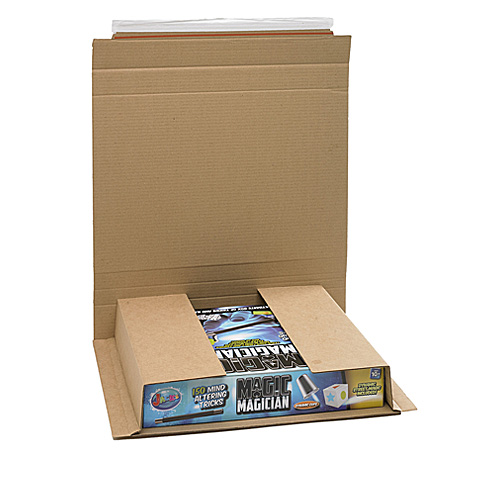 Brown Postal Wrap - PW7 - 430x380x0-90mm - pk25