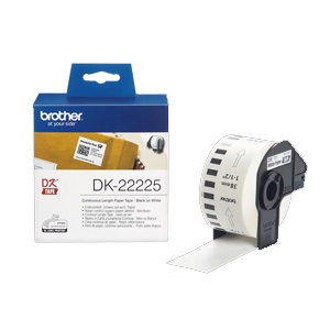 Brother DK-22225 continuous direct thermal paper label roll