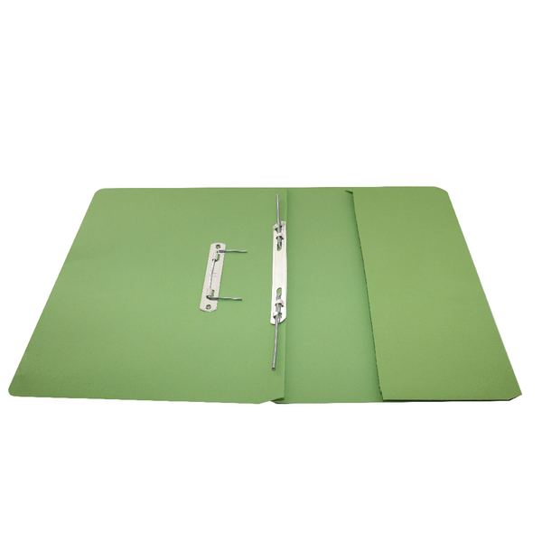 Rexel Jiffex Pocket Transfer File Foolscap Green (Pack of 25) 43314EAST