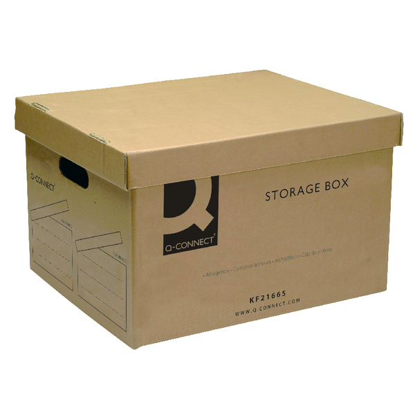 Q-Connect Brown Storage Box 335x400x250mm KF21665