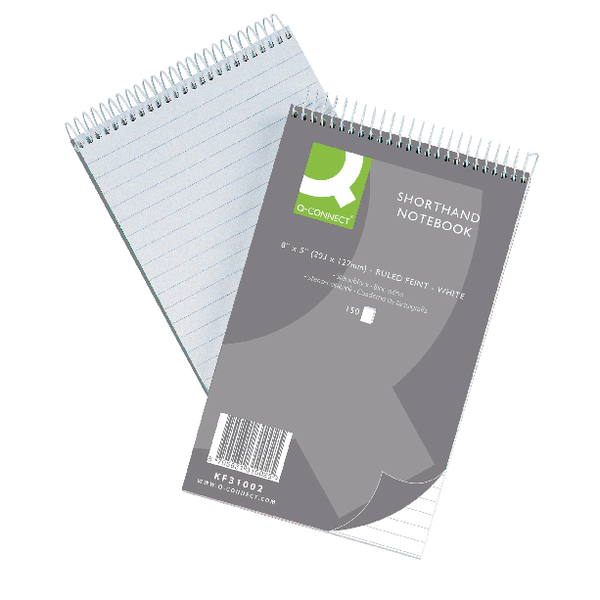 Q-Connect Feint Ruled Shorthand Notebook 300 Pages 203x127mm (Pack of 10) 31002
