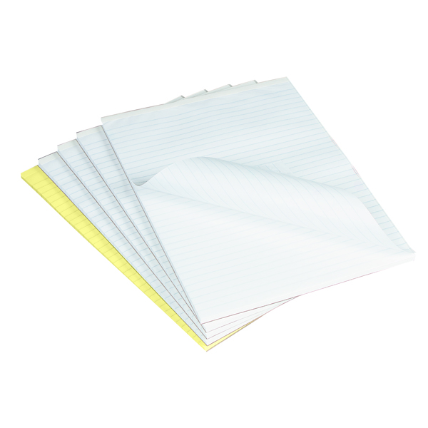 Q-Connect Feint Ruled Board Back Memo Pad 160 Pages A4 (Pack of 10) A4 Memo F
