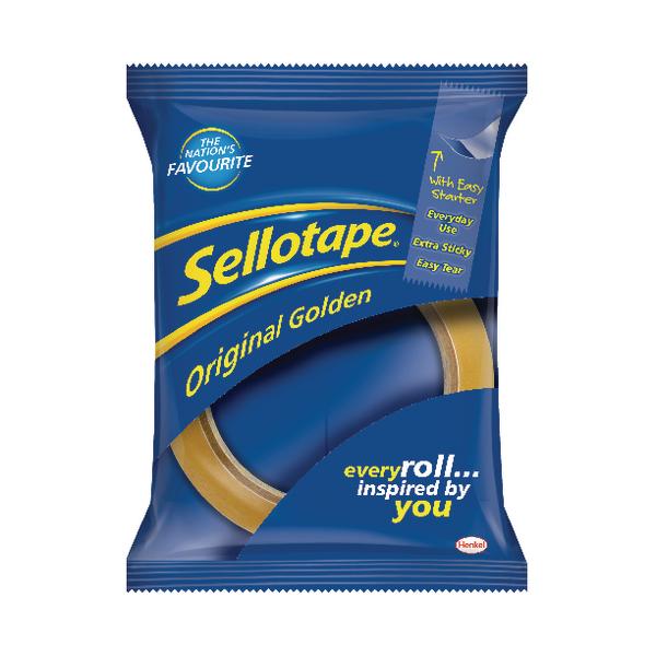 Sellotape Original Golden Tape 24mm x 66m (Pack of 6) 2028242