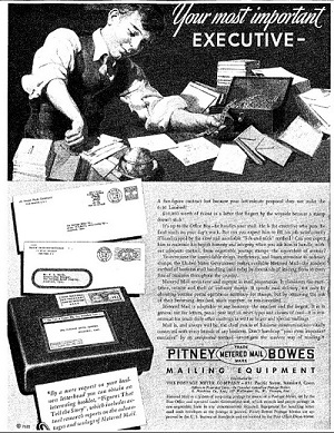 Pitney Bowes Trade Metered Mail Mark