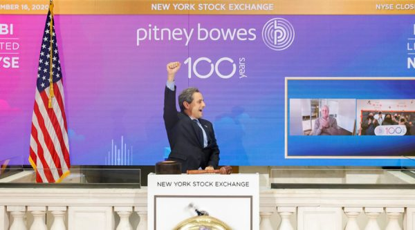 Pitney Bowes Rings Closing Bell at NYSE