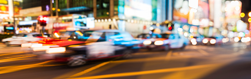 blurred city traffic scene
