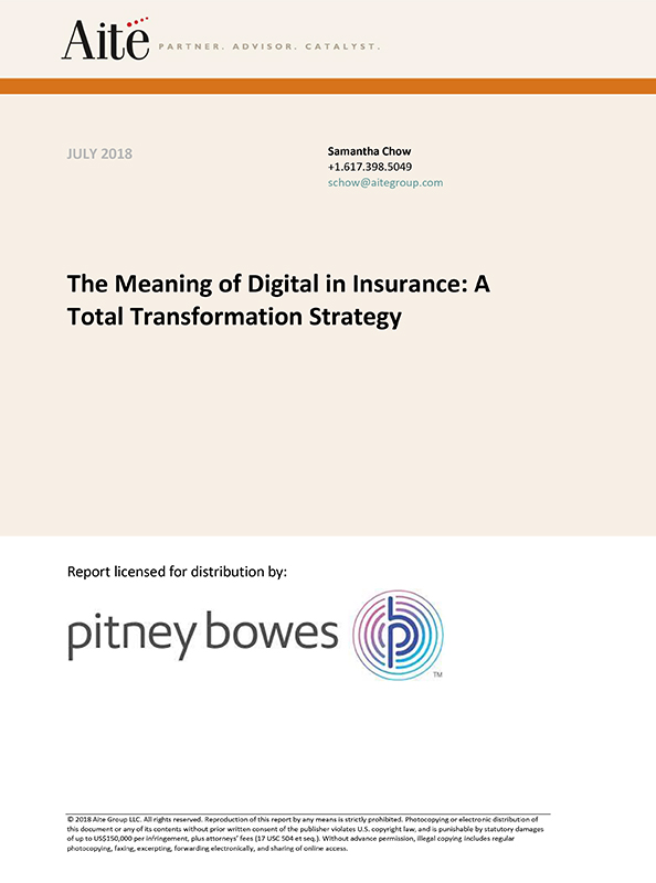 The meaning of digital in insurance: A total transformation strategy