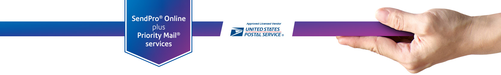 SendPro online plus Priority Mail