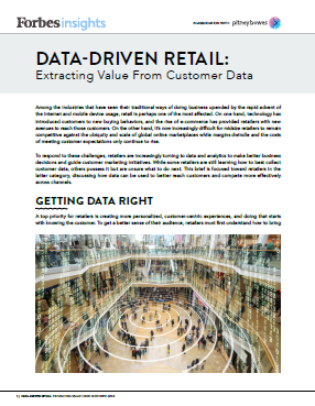 Forbes Insights Data-Driven Retail Cover
