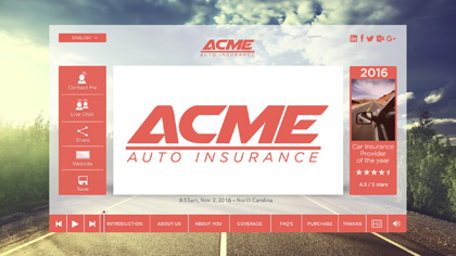 ACME Auto Insurance Quote EngageOne Video