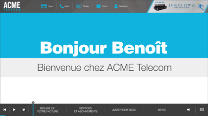 ACME Telecom EngageOne Video in French
