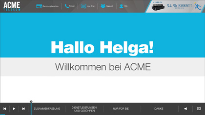 ACME Telecom EngageOne Video in German