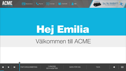 ACME Telecom EngageOne Video Swedish version