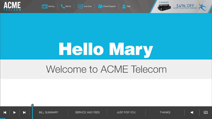 ACME Telecom EngageOne Video
