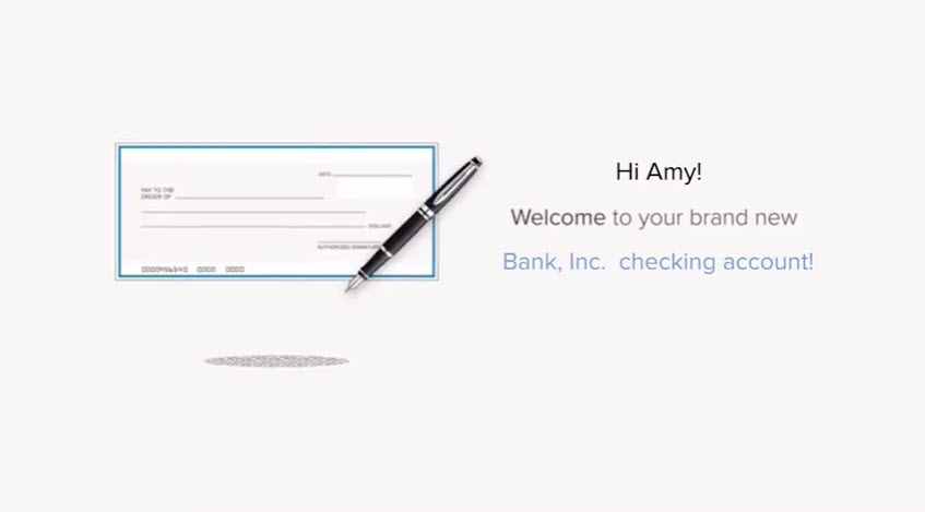 checking account template