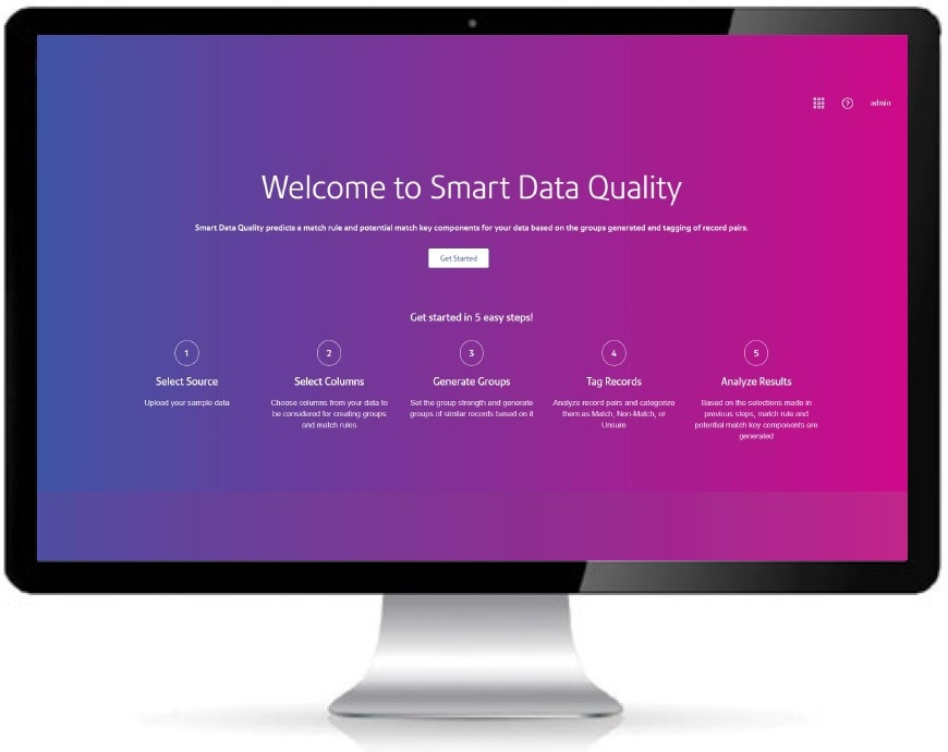 Smart Data Quality monitor display