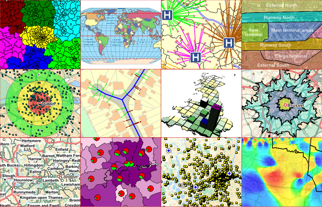 MapInfo Professional provides a wide variety of ways to visualize and analyze your data.