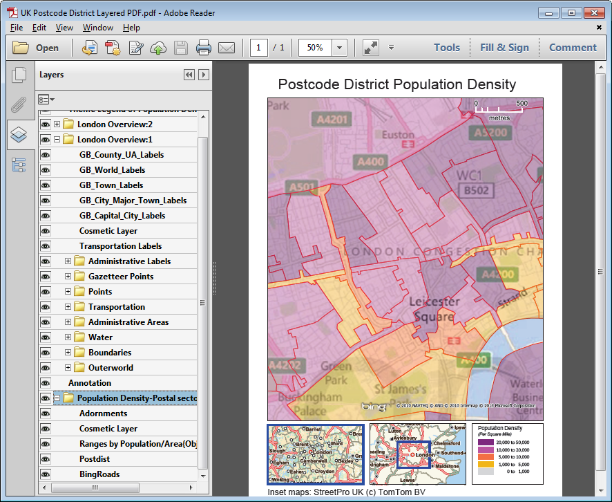 When it is time to share your results, print your maps, create interactive layered PDFs, embed maps in other applications and more!