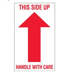This Side Up, Handle With Care' Shipping Labels - 3