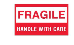 Fragile, Handle With Care' Shipping Labels - 3