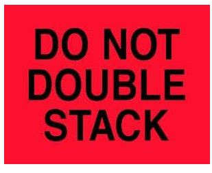 Do Not Double Stack' Shipping Labels - 4