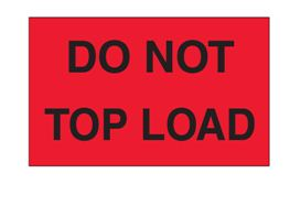 Do Not Top Load' Shipping Labels - 3