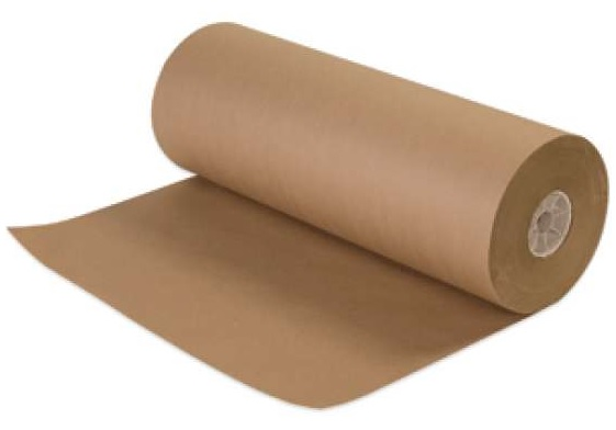 Brown Recycled Kraft Paper Roll - 36