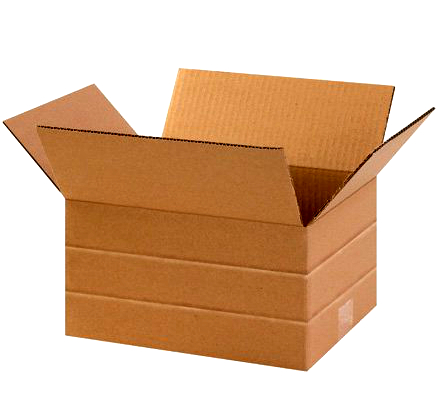 Multi-Depth Brown Corrugated Shipping Boxes - 11-1/4