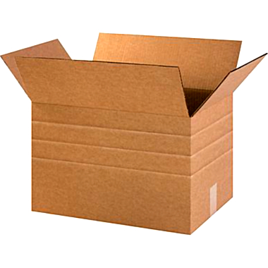 Multi-Depth Brown Corrugated Shipping Boxes - 18