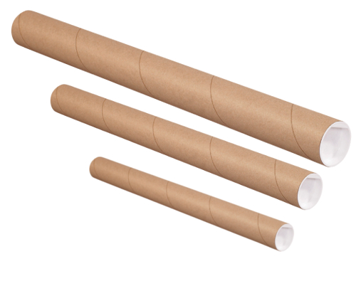 Brown Mailing Tubes - 2
