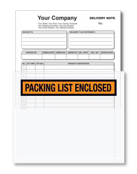 Orange Packing List Enclosed Envelopes - 4.5