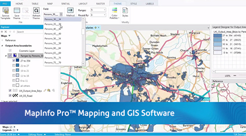 MapInfo Pro Desktop GIS GIS Mapping Pitney Bowes - Us map making software