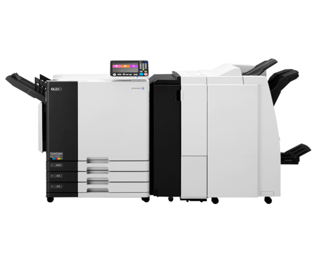 Image of GD7330 RISO ComColor Inkjet Printer with multifunction finisher