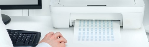 Printing postage online from home