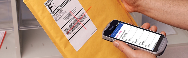 Scanning USPS IMpb tracking label