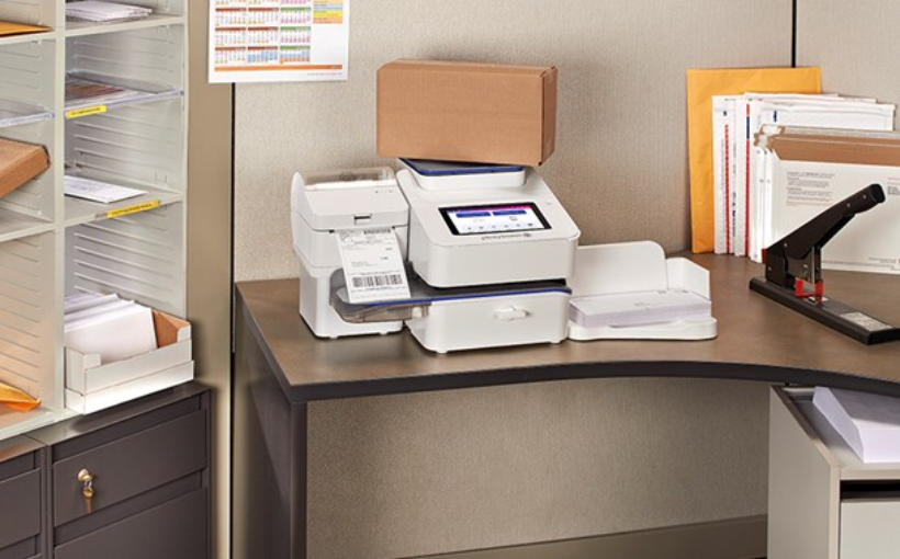 SendPro C-Series with label printer and letter tray