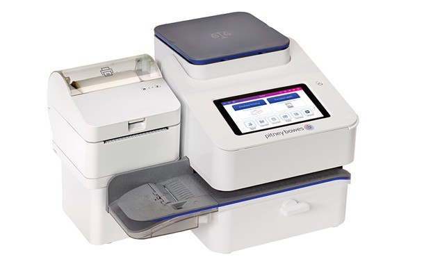 SendPro C200 with optional shipping label printer