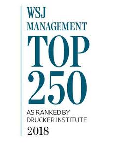 WSJ Management Top 250 as ranked by Drucker Institute 2018